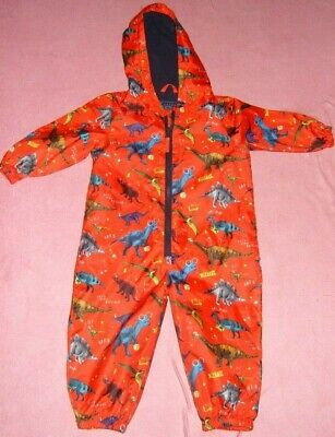 £8.50 • Buy Boys Age 18-24 Months Red Dinosaur Puddle Suit George