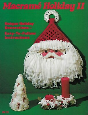 $10.95 • Buy Macrame Holiday II Christmas Decorations Vintage Craft Pattern Book