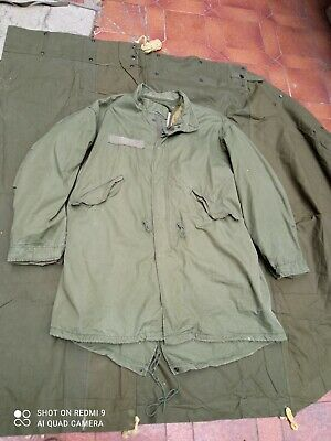 $75 • Buy Original US Army ECW Fishtail Parka And Hood M1965 M65 LARGE