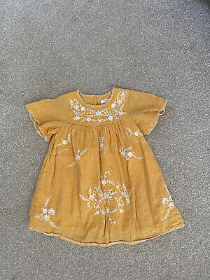 £0.99 • Buy Next Pretty Yellow Embroidered Cotton Dress (12-18 Months)