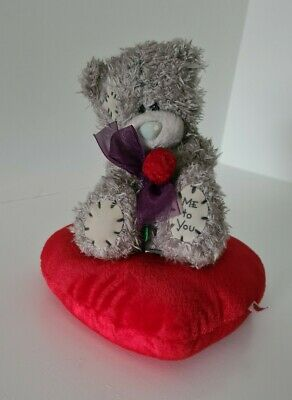 £3 • Buy Love Heart Teddy Bear, Me To You, With Rose And Heart Pillow