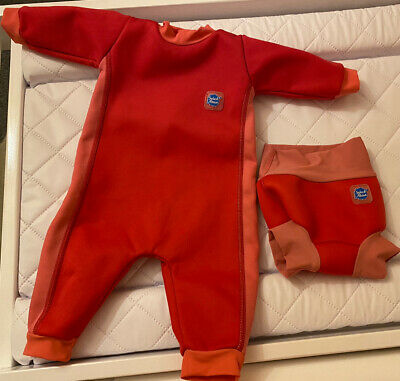 £8 • Buy Splash About Warm In One Wetsuit & Happy Nappy Size Small 0-3 Months