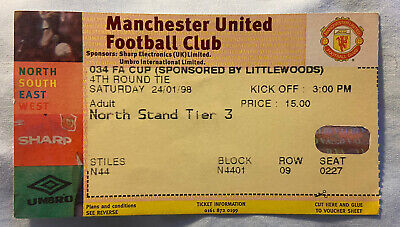 £1.29 • Buy Manchester United V Walsall Match Ticket FA Cup 4th Round 24 Jan 1998