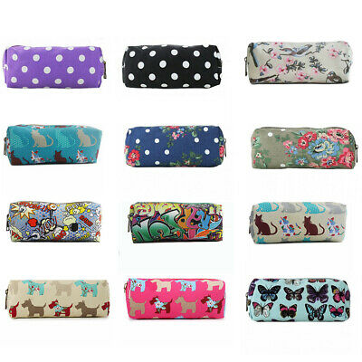 £2.99 • Buy Pencil Pen Case Cosmetic Make Up Bag Storage Pouch Owl Butterfly Floral Birds
