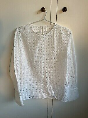 AU50 • Buy Scanlan Theodore White Lace Top Size 8 As New!