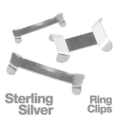 £9.80 • Buy Sterling Silver Ring Clips For Adjusting Jewelllery Rings