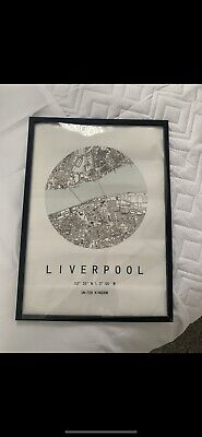 £0.99 • Buy Map Of Liverpool A3 Frame