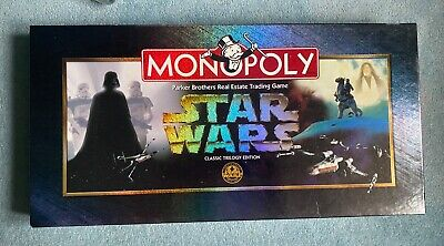 £9 • Buy Monopoly Star Wars 1997 Classic Trilogy Edition Vintage Board Game - Complete