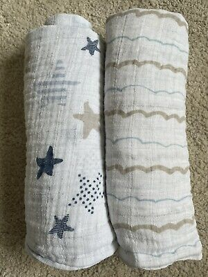 £10 • Buy Aden And Anais Large Muslin Swaddles IMMACULATE CONDITION