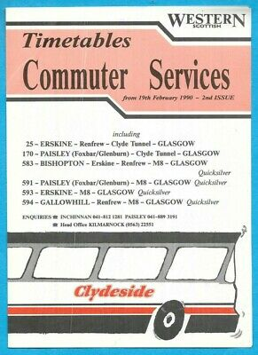 £0.99 • Buy Western Scottish/Clydeside 25 170 583 591 593 594 Commuter Services  19.2.1990