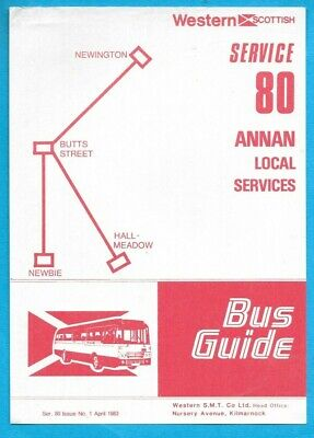 £0.99 • Buy Western Scottish  80 Annan Local Services Timetable April 1983
