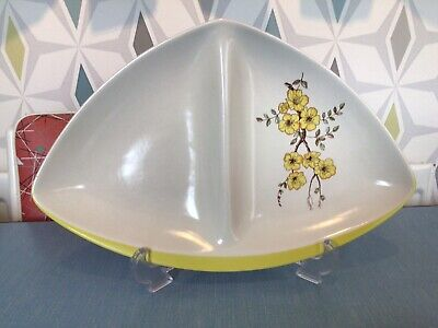 £7.50 • Buy Vintage Mid-Century 1950s Carlton Ware Mimosa Divided Serving Dish / Plate