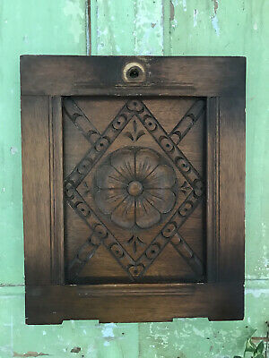 £18.50 • Buy Carved Oak OLD  Foliate DECORATIVE WOOD PANEL High Quality Carving Wall Hanging