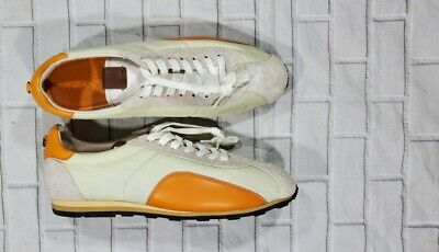$89.98 • Buy COACH Low Top Shoes White Orange G1742 Shoes Sneakers MENS SIZE 7.5