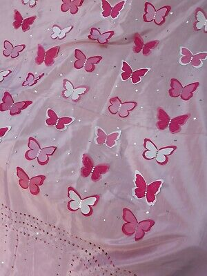 £10 • Buy Girls Pink Butterfly Bedding And Curtian Set. Next