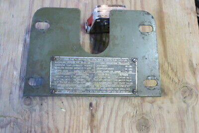 $25 • Buy Dodge Military Truck M37 M43 G741 Dash Panel With Data Plate