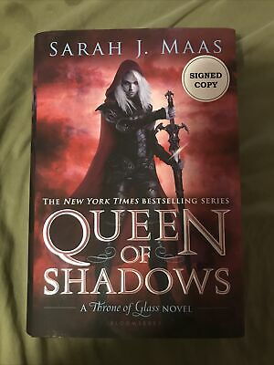 $60 • Buy Sarah J. Maas SIGNED Queen Of Shadows 1st/1st HCDJ Throne Of Glass Series