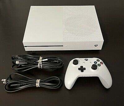 AU420.93 • Buy Microsoft Xbox One S 1TB Console With Controller And Cables  - FREE SHIPPING -