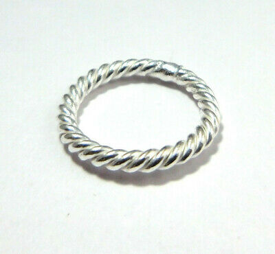 $ CDN4.99 • Buy 80 Pcs 8mm Bali Twisted Closed Jump Ring Sterling Silver Plated 334 Num-126