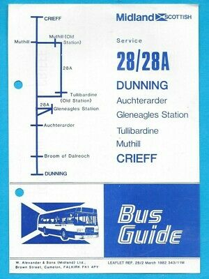 £0.99 • Buy Midland Scottish 28/28A Dunning - Crieff Timetable March 1982