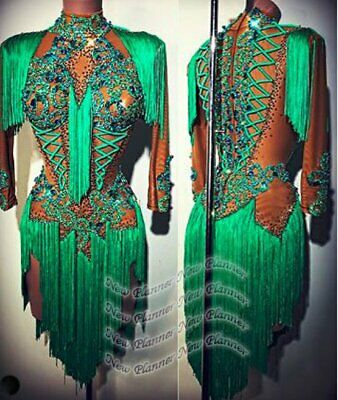 £330.59 • Buy L2105 Women Competition Specialty Latin/Rhythm Rumba Dress UK 10 US 8 Green