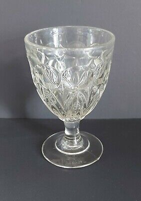 £5.50 • Buy Mid 19th C. Victorian Pressed Moulded Glass Rummer C1860