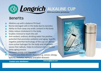 £40 • Buy Longrich Pi Water Alkalizer Energy Anti Oxidant Cup New In Box Alkaline Cup