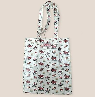 £10 • Buy Kath Kidston Oilcloth Shopper Tote Bag Good Condition Horses/dogs/country Print