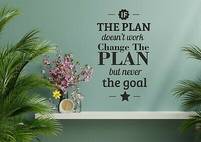 $32.99 • Buy Motivation Inspiration Wall Sticker Decal Office Change The Plan Not The Goal