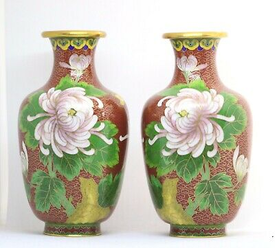 £28 • Buy Pair Of Chinese Cloisonne Vases