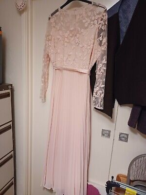 £16 • Buy Coast Size 26 Pink Dress Lace And Pleated Skirt