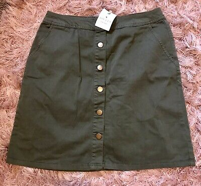 £3 • Buy BNWT Joules Size 12 Chino Collection Harper Khaki Skirt