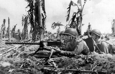 $4.90 • Buy WW2 Picture Photo US Soldiers With Machine Gun Browning M1919 0242