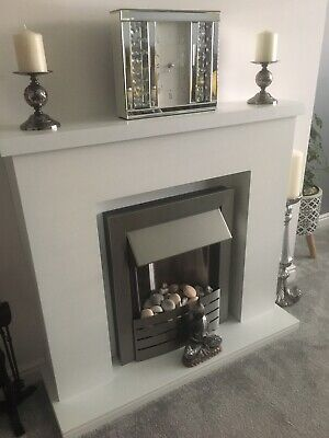 £90 • Buy Electric Fire And Surround White Excellent Condition Slightly Used