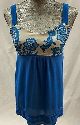 $ CDN19.91 • Buy LULULEMON Royal Blue Solid & Floral Sleeveless Workout Active Top Size 10