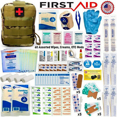 $39.99 • Buy Tactical Trauma Kit First Aid Military MOLLE Pouch Outdoor Medical Survival Kit
