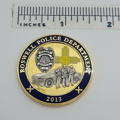 £3.98 • Buy Roswell Police Department Challenge Coin 2013
