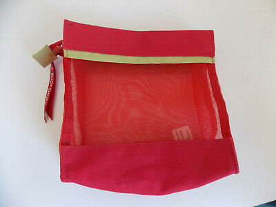 £0.99 • Buy Red Mesh The Body Shop Toilletries Bathroom Make-up Travel Bag Pouch