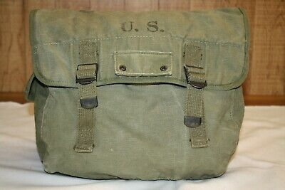 $78 • Buy Wwii Us Army M1936 Musette Field Bag Made By Bradford & Co. In 1945