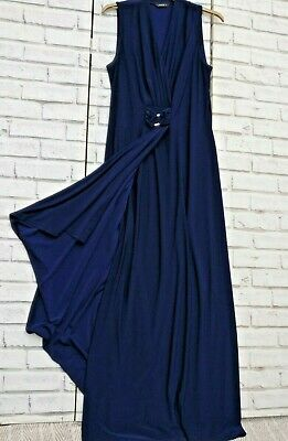 £10.99 • Buy Stunning Maxi Dress Blue Wrap Style Size 14 Party Cocktail Special Occasion