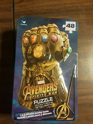 £6.51 • Buy Marvel Avenger Infinity War Surprise Puzzle Tin (48 Pieces)- New