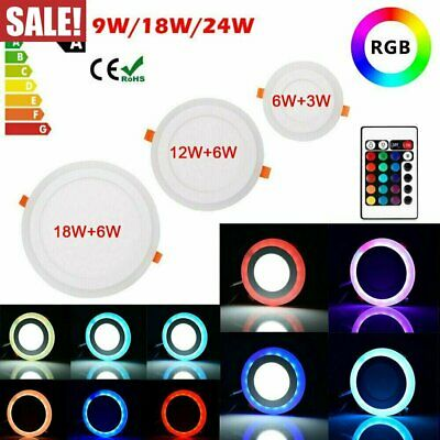 £10.21 • Buy LED Ceiling Light Round Panel Down Lights Color Chaging Bathroom Kitchen Lamp UK