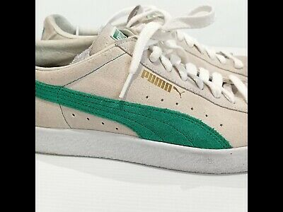 AU65 • Buy Puma Suede Leather White Green Flash Sneakers US 12 EUR 46 Tennis Casual Shoes