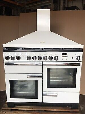 £1150 • Buy Rangemaster Professional Deluxe 110 WhIte Dual Fuel Cooker With Matching Hood.