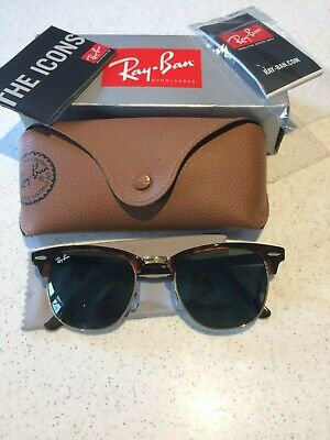 £30 • Buy Ray-Ban Clubmaster Unisex Sunglasses Classic Brown With Case & Box