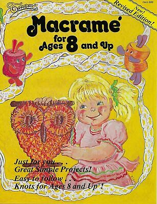 $10 • Buy Macrame For Ages 8 And Up Vol 1 Beginner Pattern Book Simple Easy Projects