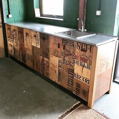 £950 • Buy Large Kitchen Cupboard, Island, Catering, Bar, Restaurant, Stainless Steel, Wood