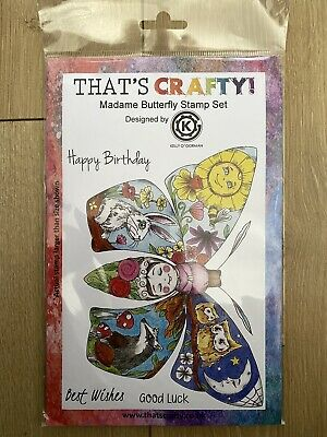 £5 • Buy Thats Crafty Madame Butterfly Stamp Set Rubber Stamp Kelly O'gorman