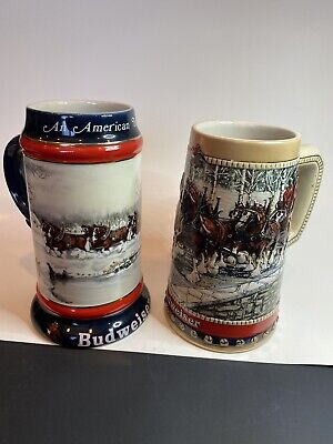 $ CDN11.77 • Buy 1988 And 1990 Budweiser Holiday Steins, Steins Only