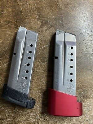 $79.99 • Buy Lot Of 2 Smith & Wesson M&P 9mm Shield Magazines, One With Hyve Extension